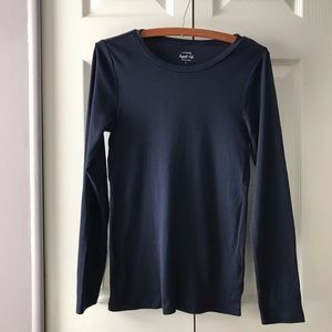 JCrew Navy Blue Long Sleeve Tee Perfect Fit